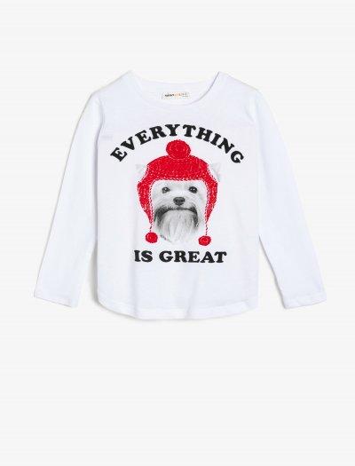 Koton Yazılı Baskılı T-shirt 0kkg17962ok
