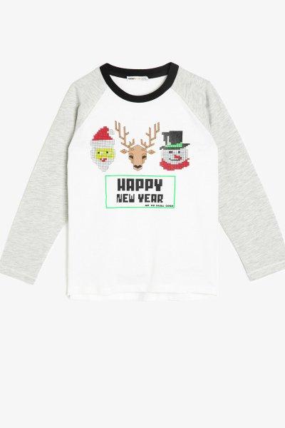 Koton Yazılı Baskılı T-shirt 0kkb16212tk