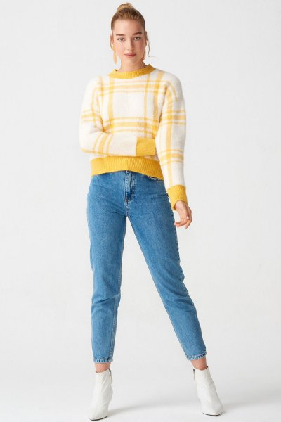 7704 Dilvin Kar Yıkama Mom Fit Pantolon