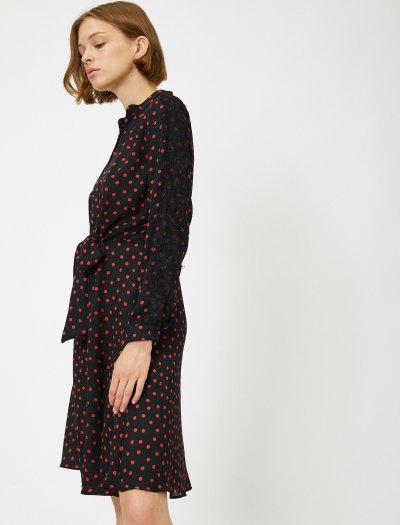 Koton Puantiyeli Elbise 0kak86276ıw
