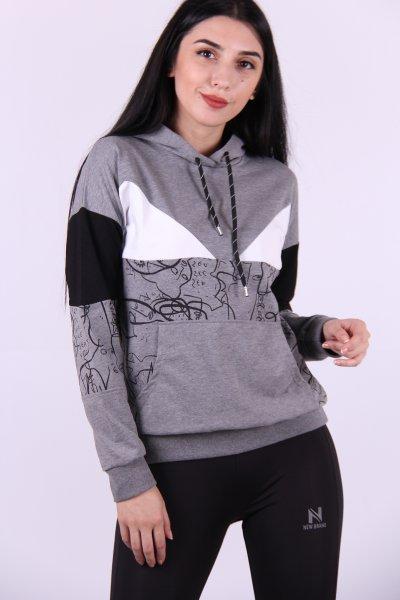 02712 New Brand Bayan Sweat Kapüşon