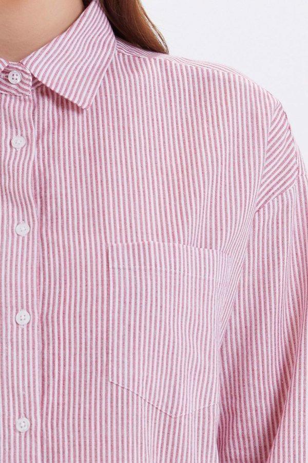 Loft Kırmızı Regular Fit Kadın Gömlek Lf2020014