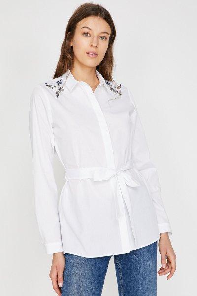 Koton Beyaz Gömlek 9yak66680ıw
