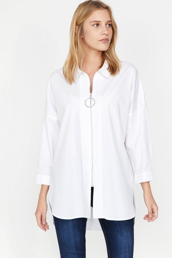 Koton Beyaz Gömlek 9yak66242ıw