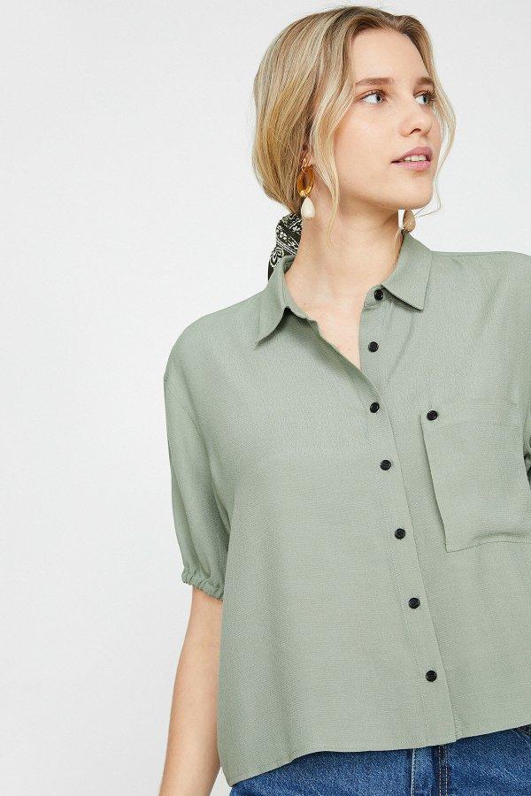 Koton Yeşil Gömlek 9yak68449pw