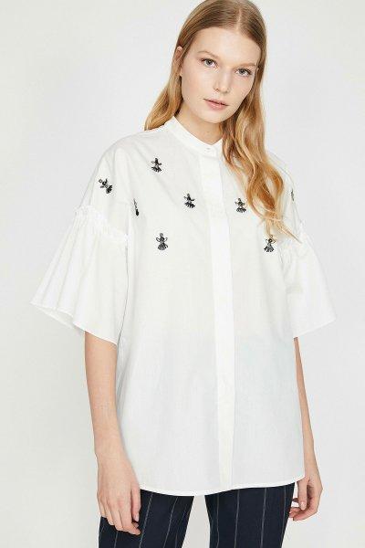 Koton Beyaz Bluz 9yak66473ıw