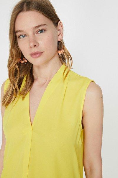 Koton Sarı Bluz 9yak33625ew