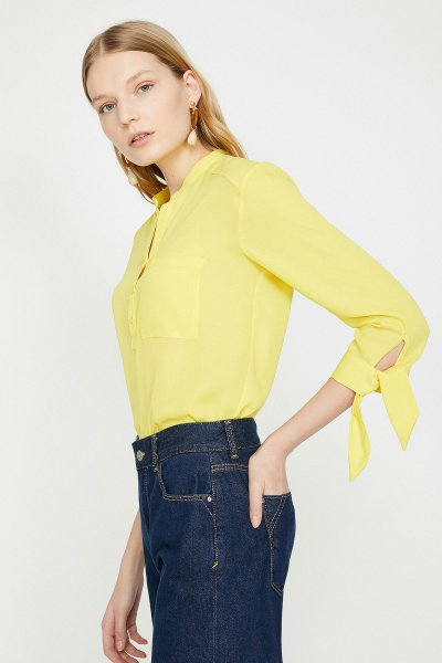 Koton Sarı Bluz 9yak63305ew