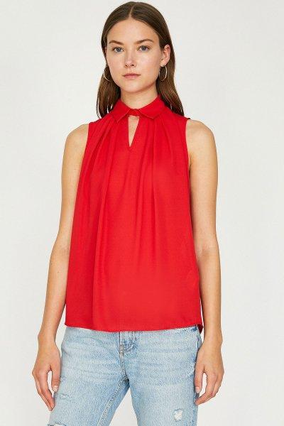 9yak68392pw Koton Kırmızı Bluz