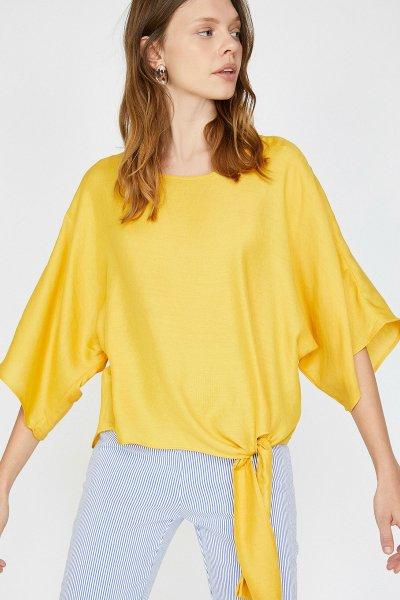 Koton Sarı Bluz 9yak68409ow
