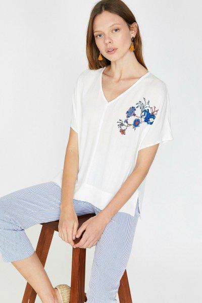 Koton Beyaz Bluz 9yak68510cw