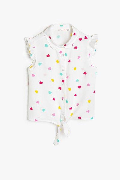 Koton Beyaz Desenli Gömlek 9ykg67855aw