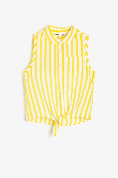 Koton Sarı Çizgili Bluz 9ykg67950ow