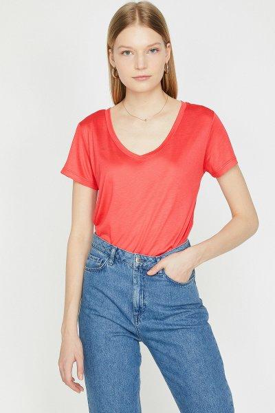 Koton Kırmızı Tişört 9yak13878ok