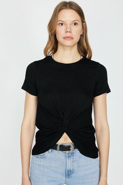 Koton Siyah T-shirt 9yak13968ek