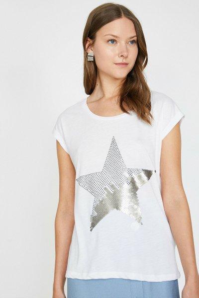 Koton Ekru T-shirt 9yak13886ek