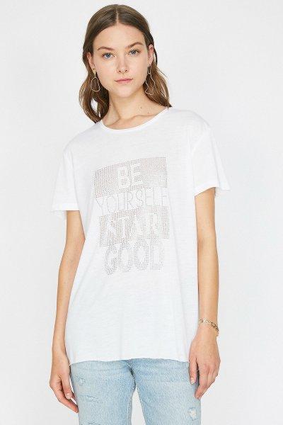 Koton Ekru T-shirt 9yak13938ek