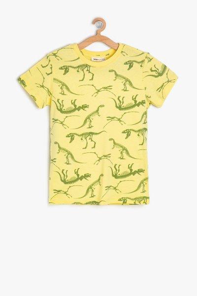 9ykb16860tk Koton Sarı Desenli T-shırt