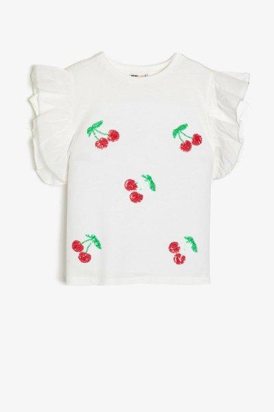 Koton Ekru T-shirt 9ykg17531ak