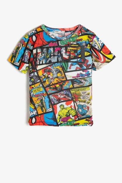 Koton Siyah Desenli T-shirt 9ykb16003ok