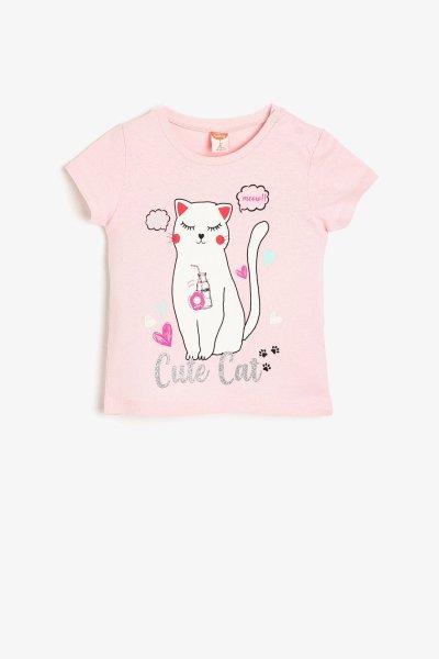 Koton Pembe T-shirt 9ymg19015ok