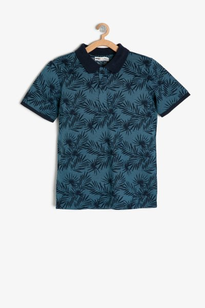 Koton Lacivert Desenli T-shirt 9ykb16798tk
