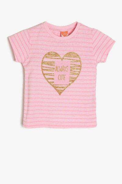 Koton Pembe T-shirt 9ymg19072ok