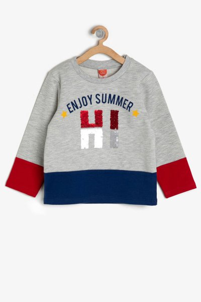 Koton Gri Sweatshirt 9ymb18885zk