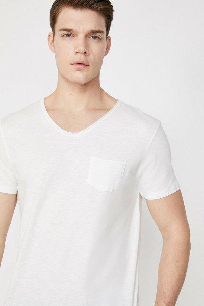 Koton Ekru T-shirt 9yam15058lk