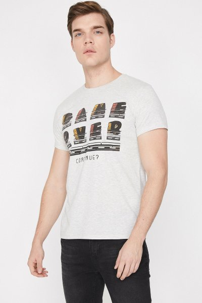 Koton Gri T-shirt 9yam11966ck