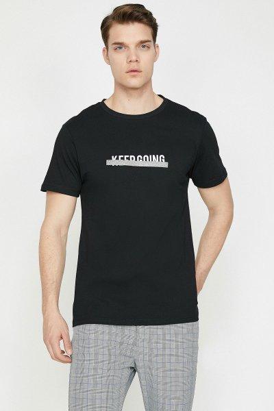 Koton Siyah T-shirt 9yam11913lk