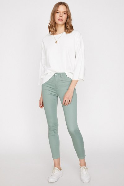Koton Yeşil Pantolon 9yak43222mw