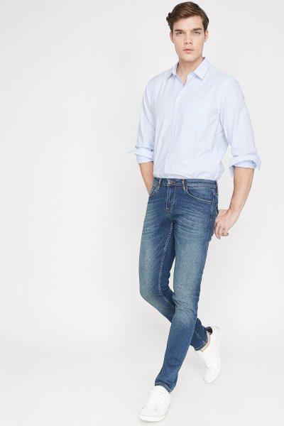 Koton Mavi Pantolon 9yam43834ld