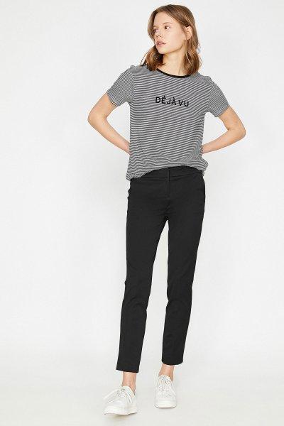 Koton Siyah Pantolon 9yak42121rw