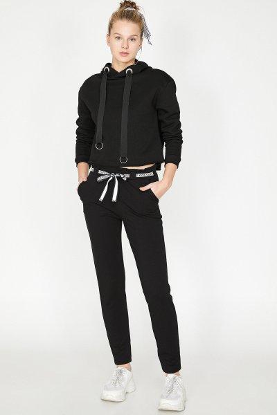 Koton Siyah Pantolon 9yal48007ık
