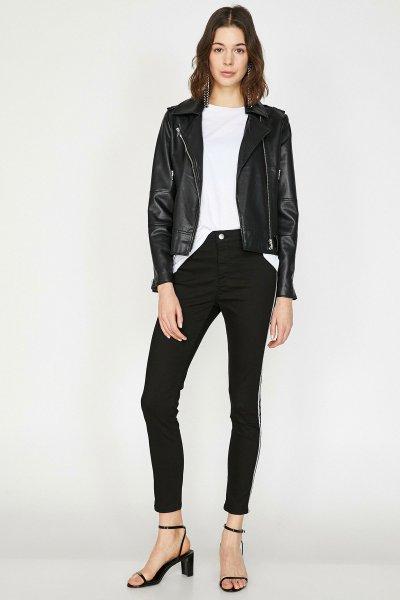Koton Siyah Pantolon 9yak43618mw