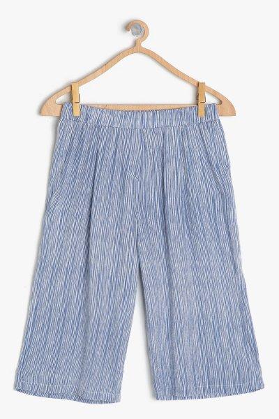 Koton Mavi Çizgili Pantolon 9ykg47158aw