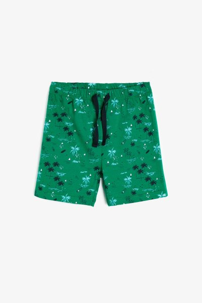 9ymb48618zk Koton Yeşil Desenli Şort