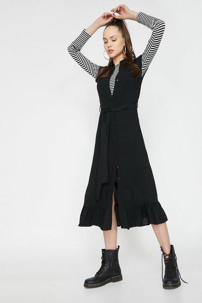 Koton Siyah Elbise 9yal89383ıw