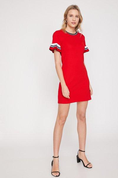 Koton Kırmızı Elbise 9yak83754ek