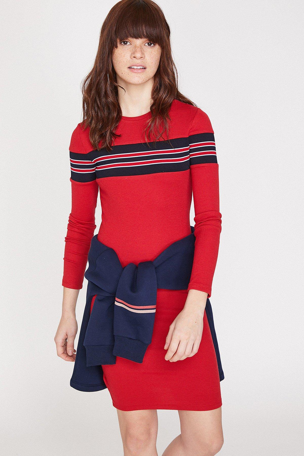 b543bd7647093 Koton Kırmızı Elbise 9YAL88034OK