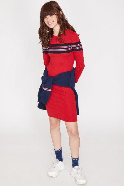 Koton Kırmızı Elbise 9yal88034ok