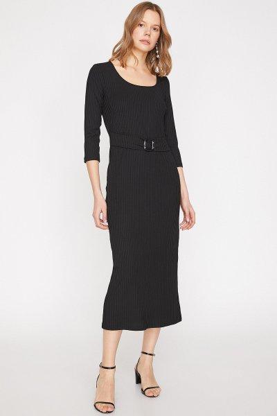 Koton Siyah Elbise 9yak83816ek