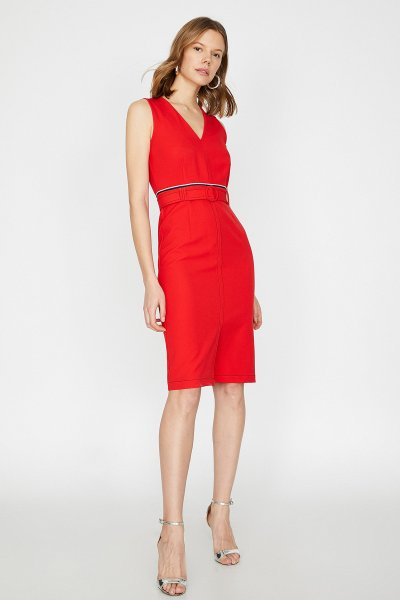 Koton Kırmızı Elbise 9yak83710ew