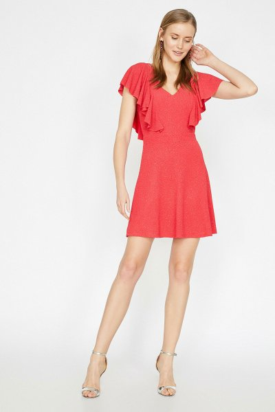 Koton Kırmızı Elbise 9yak84651fk