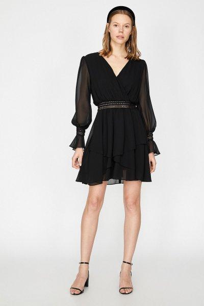 Koton Siyah Elbise 9yak84623fw