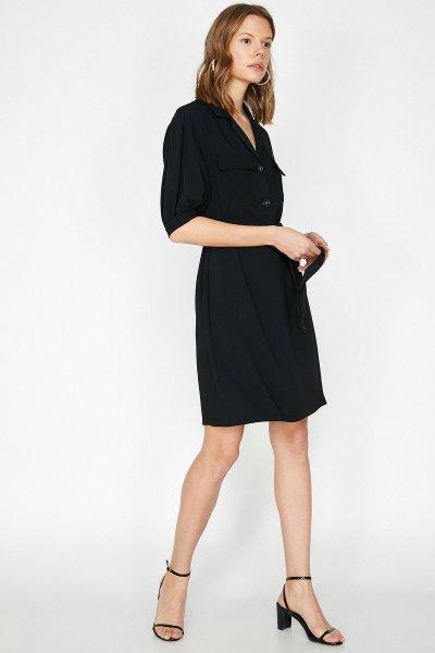 Koton Siyah Elbise 9yak88156pw