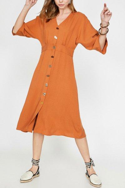 9yak88412pw Koton Kahverengi Elbise