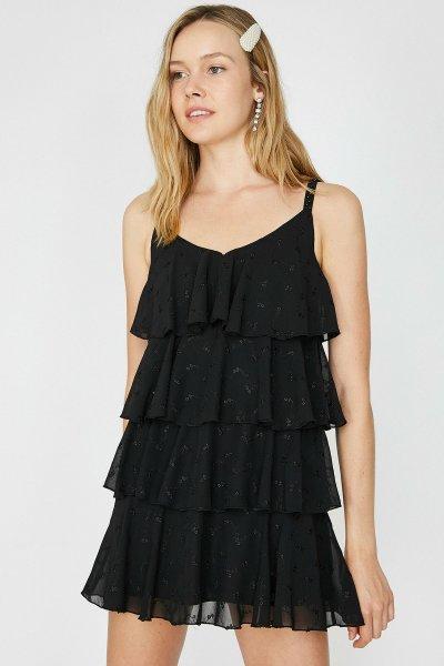 9yak84627fw Koton Siyah Elbise