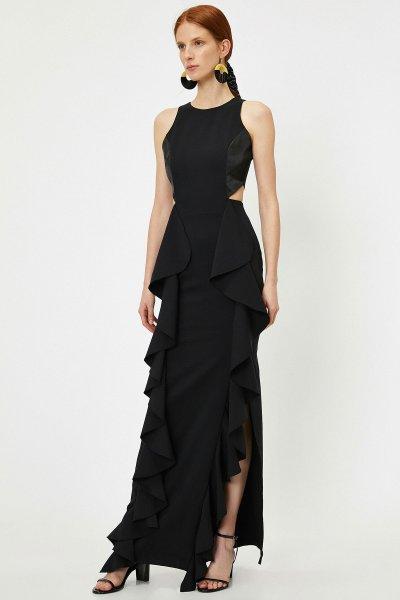 Koton Siyah Elbise 9yaf80986gw